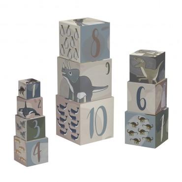 Cubes à empiler - Dinos / Animaux de l'arctique
