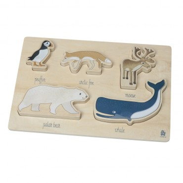 Puzzle en bois - Animaux de l'arctique