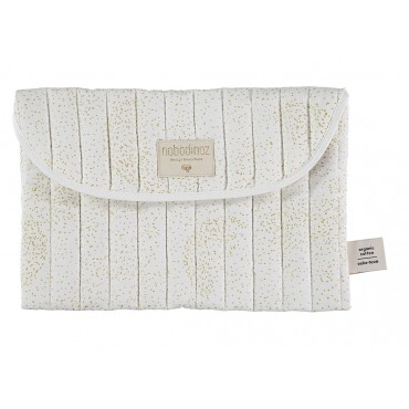 Pochette de rangement Bagatelle - Gold bubble / White