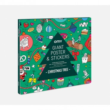 Poster géant & Stickers - Christmas tree