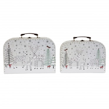 Set de 2 valises - Winter Forest Folk Deer