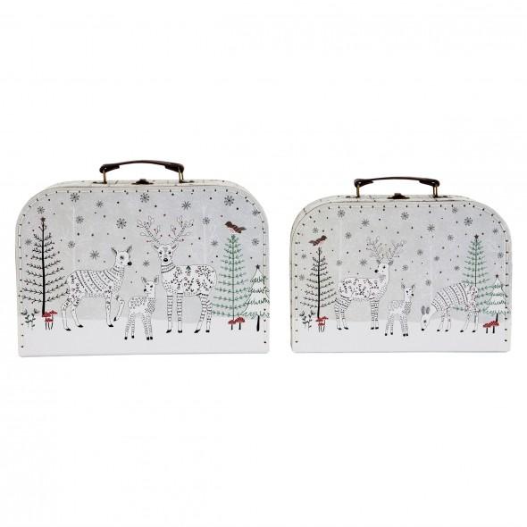 Set de 2 valises - Winter Forest Folk Deer