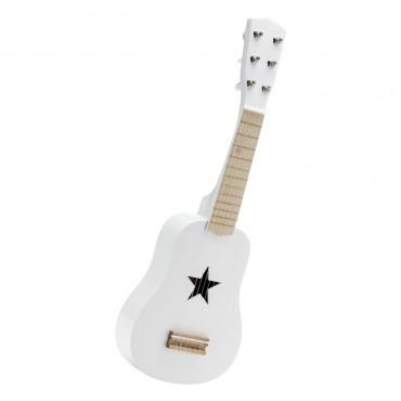 Guitare en bois - Blanc