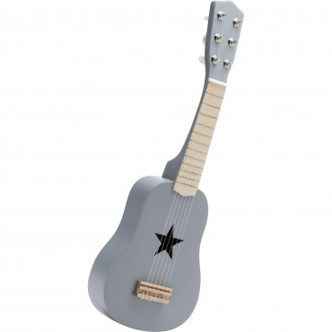 Guitare en bois - Gris