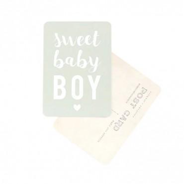 Carte Sweet Baby Boy - Vert menthe