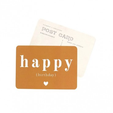 Carte Happy Birthday (Adèle) - Ocre