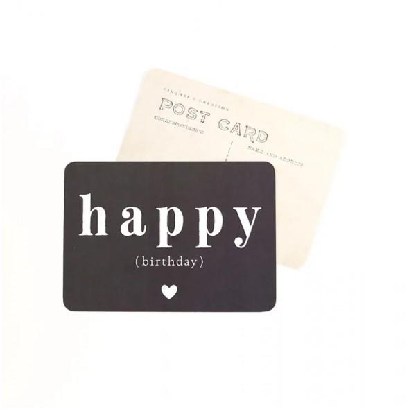 Carte Happy Birthday (Adèle) - Ardoise