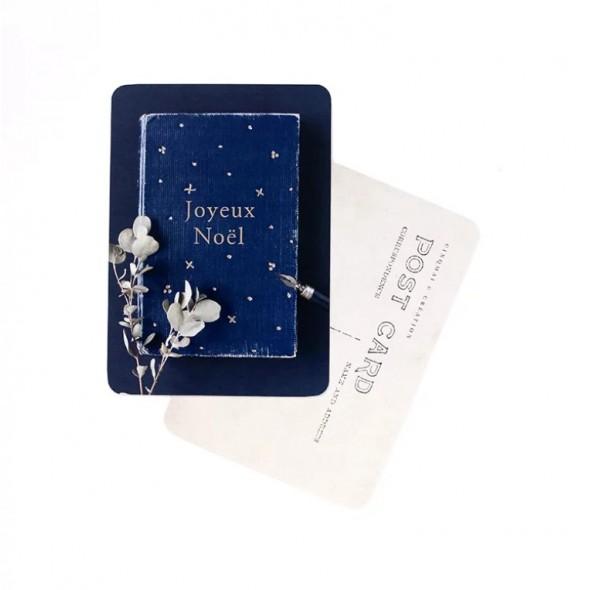 Carte Joyeux Noël - Heure bleue