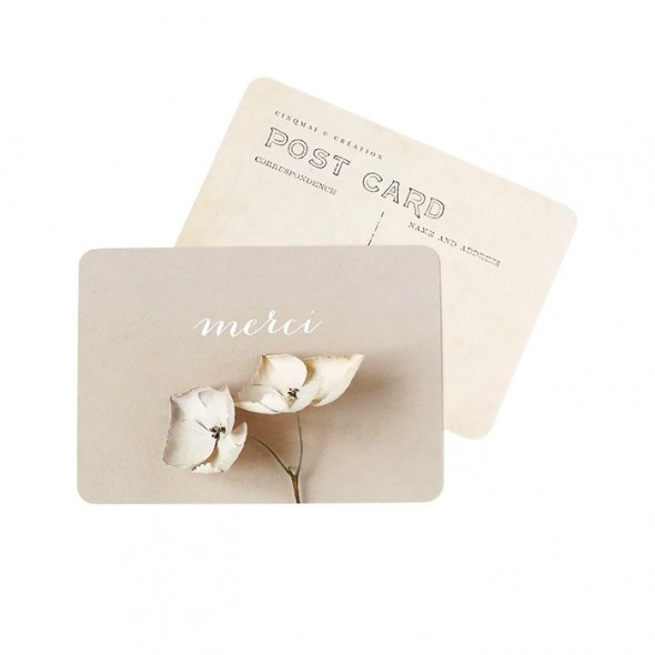 Carte Merci (Jane) - Fleur