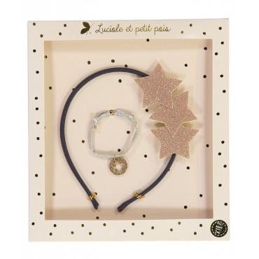 Box Serre-têtes & Bracelet - Liberty Capel Rose Gris
