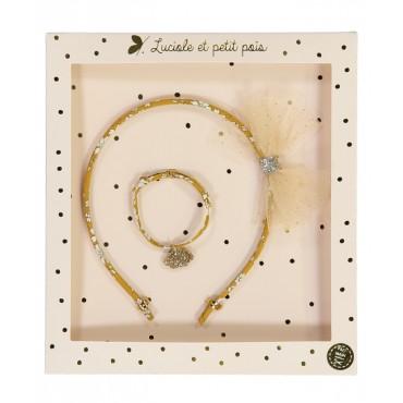 Box Serre-têtes & Bracelet - Liberty Capel Moutarde