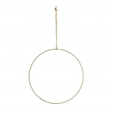 Cercle en métal à suspendre - Laiton