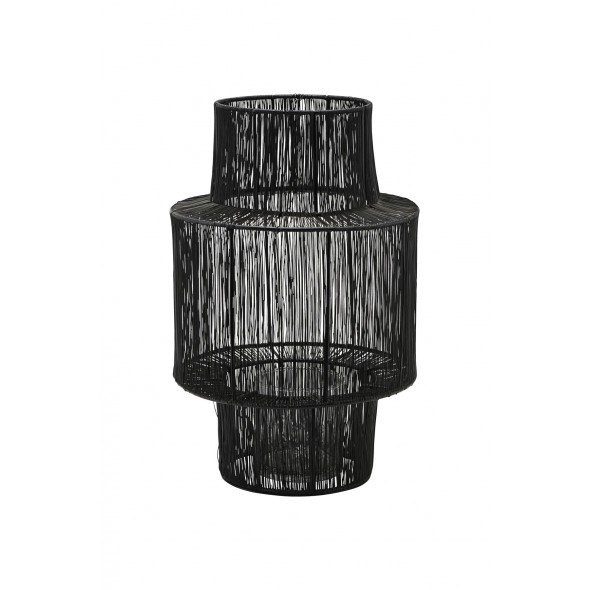 Lanterne en métal Tabia - Noir
