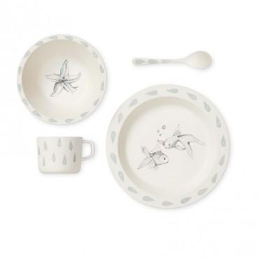 Set de vaisselle en bambou - Mer