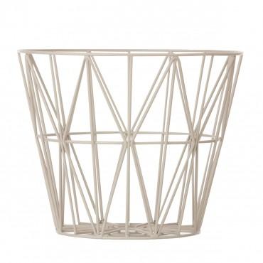 Panier de rangement Wire Basket - Gris (M)