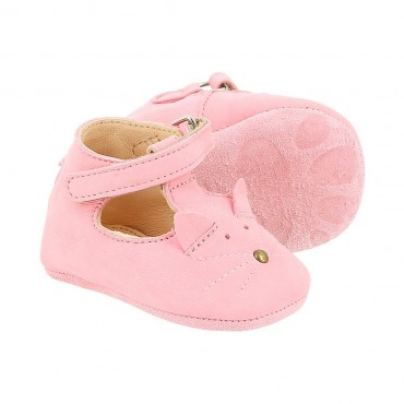 Chaussons Loulou Chat - Rose baby