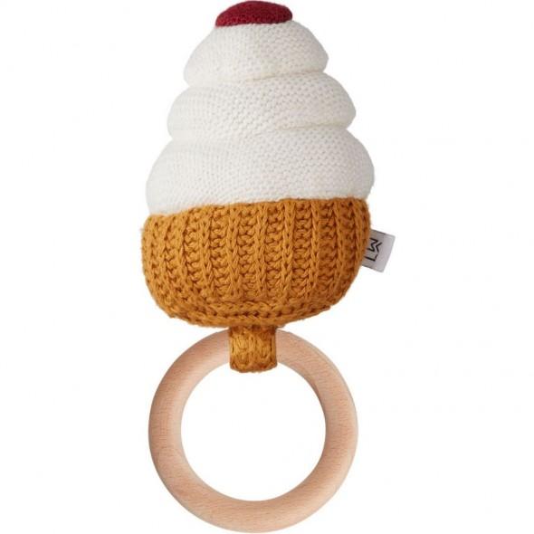 Hochet Cupcake Aria - Crème