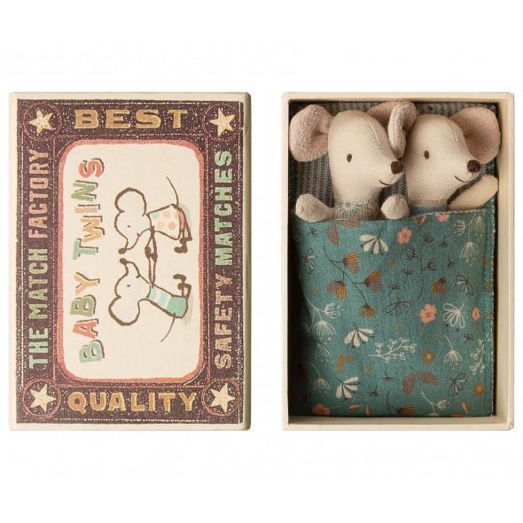 Jumeaux souris dans leur boite