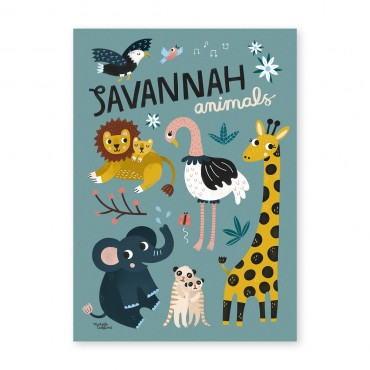 Affiche - Savannah Animals