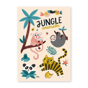 Affiche - Jungle Animals