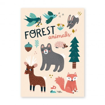 Affiche - Forest Animals