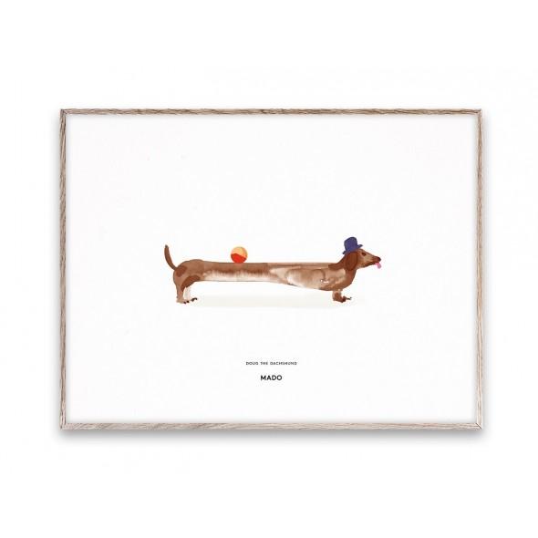 Affiche Doug le teckel (30x40 cm)