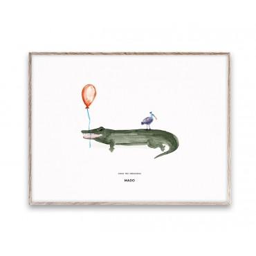 Affiche Coco le crocodile (30x40 cm)