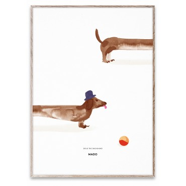 Poster Doug le teckel (50x70 cm)