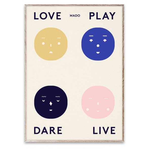 Poster Four Feelings  (50x70 cm)