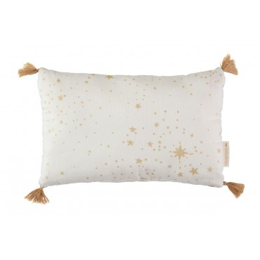 Petit coussin Sublim - Gold stella / white