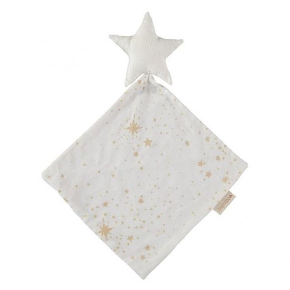 Doudou Star - Gold stella / White