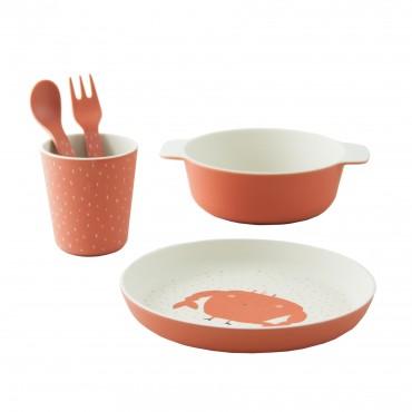 Set de vaisselle en bambou - Mrs Crab