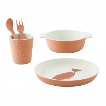 Set de vaisselle en bambou - Mr Fox