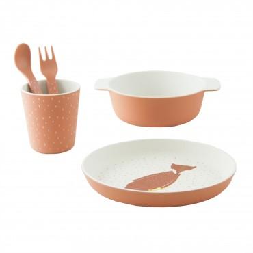Set de vaisselle en bambou - Mr Fox