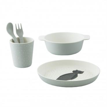 Set de vaisselle en bambou - Mr Raccoon