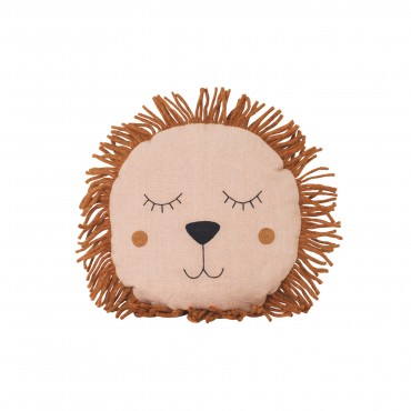 Coussin Safari - Lion (rose)