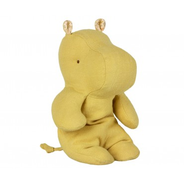 Doudou Little Hippo - Lime yellow