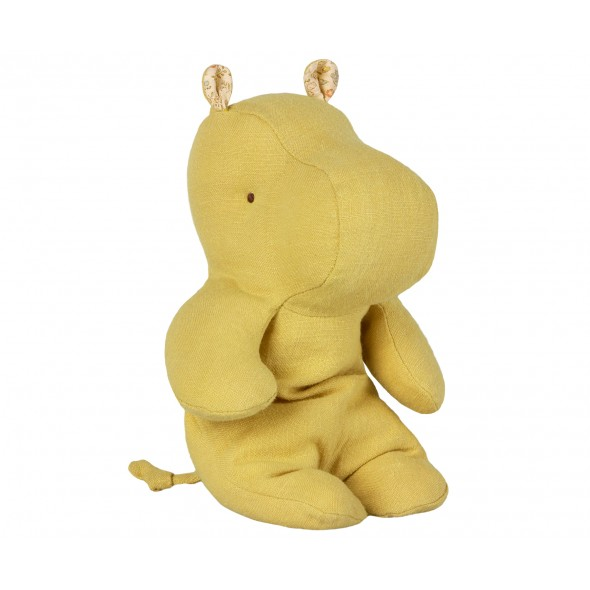 Doudou Little Hippo - Lime yellow