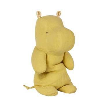 Doudou Hippo - Lime yellow (Medium)