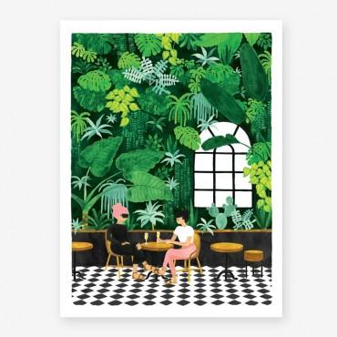 Affiche - Café terrasse