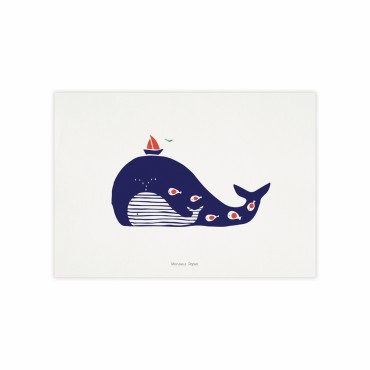 Affiche - Baleine rayée