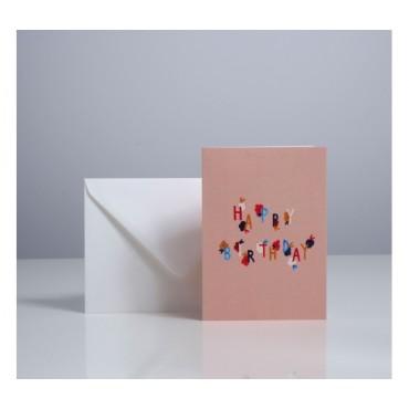 Carte double - Bloom Birthday