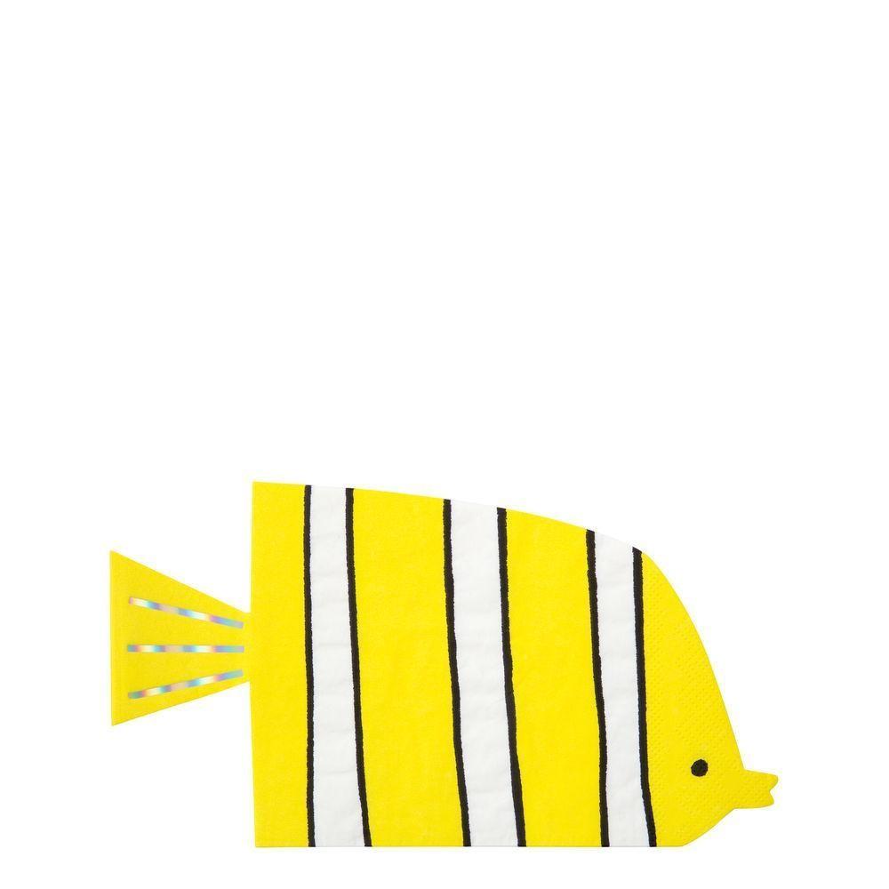 Serviettes En Papier Originales 16 serviettes en papier - poisson sous la mer - meri meri