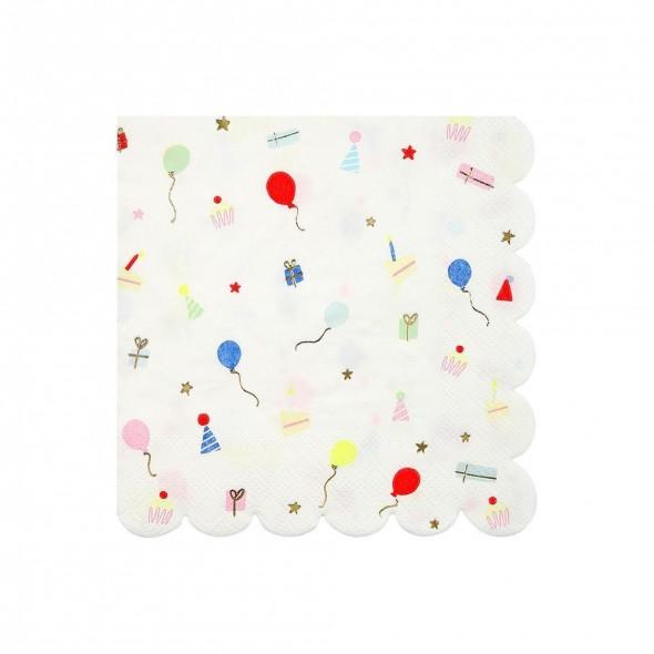 16 petites serviettes en papier - Fête