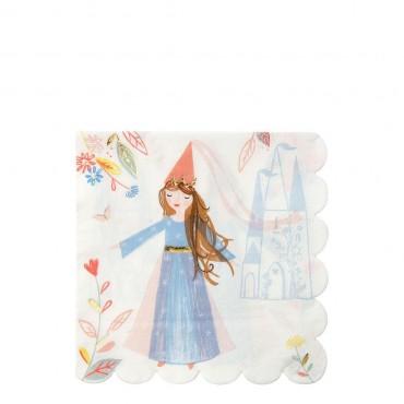 16 grandes serviettes en papier - Princesse magique