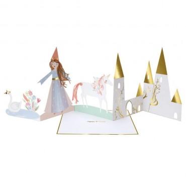 Carte accordéon anniversaire - Princesse magique