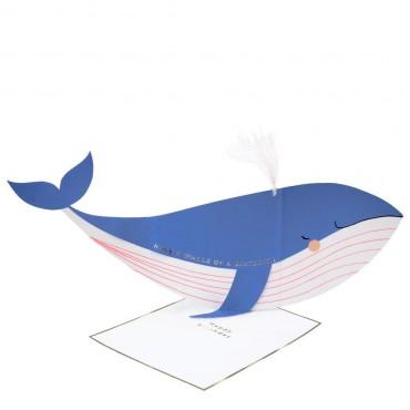 Carte anniversaire - Baleine