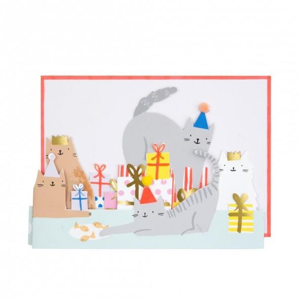 Carte anniversaire - Fête des chats