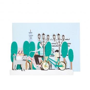Carte anniversaire - Balade à Paris
