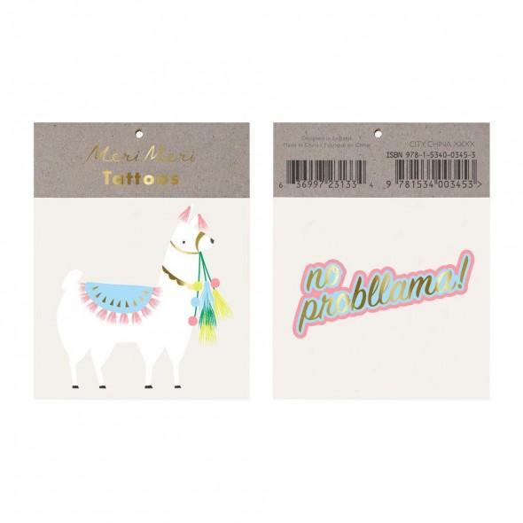 2 planches de tatouages éphémères -  Lama